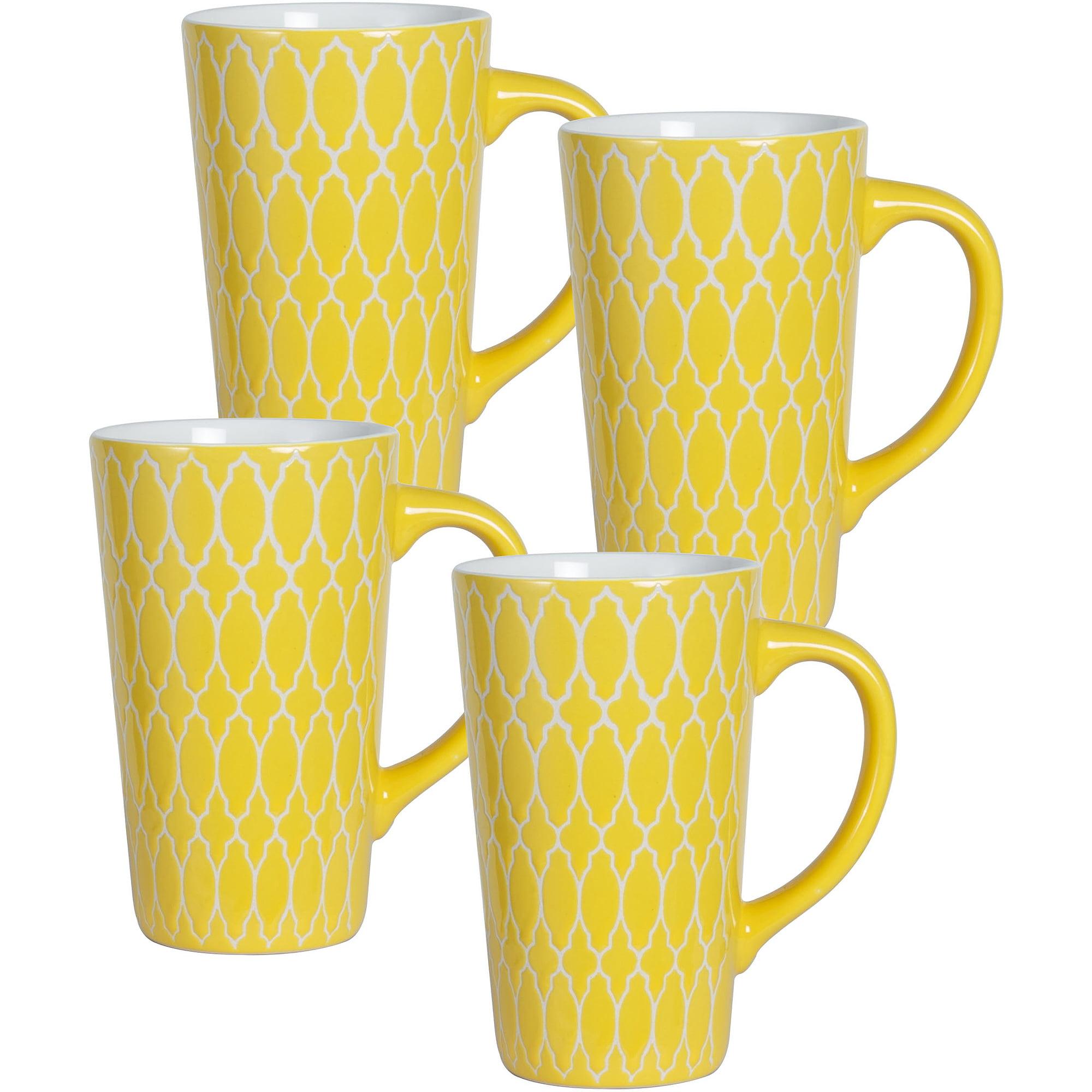 Pfaltzgraff Studio Set of 4 Mugs, Yellow
