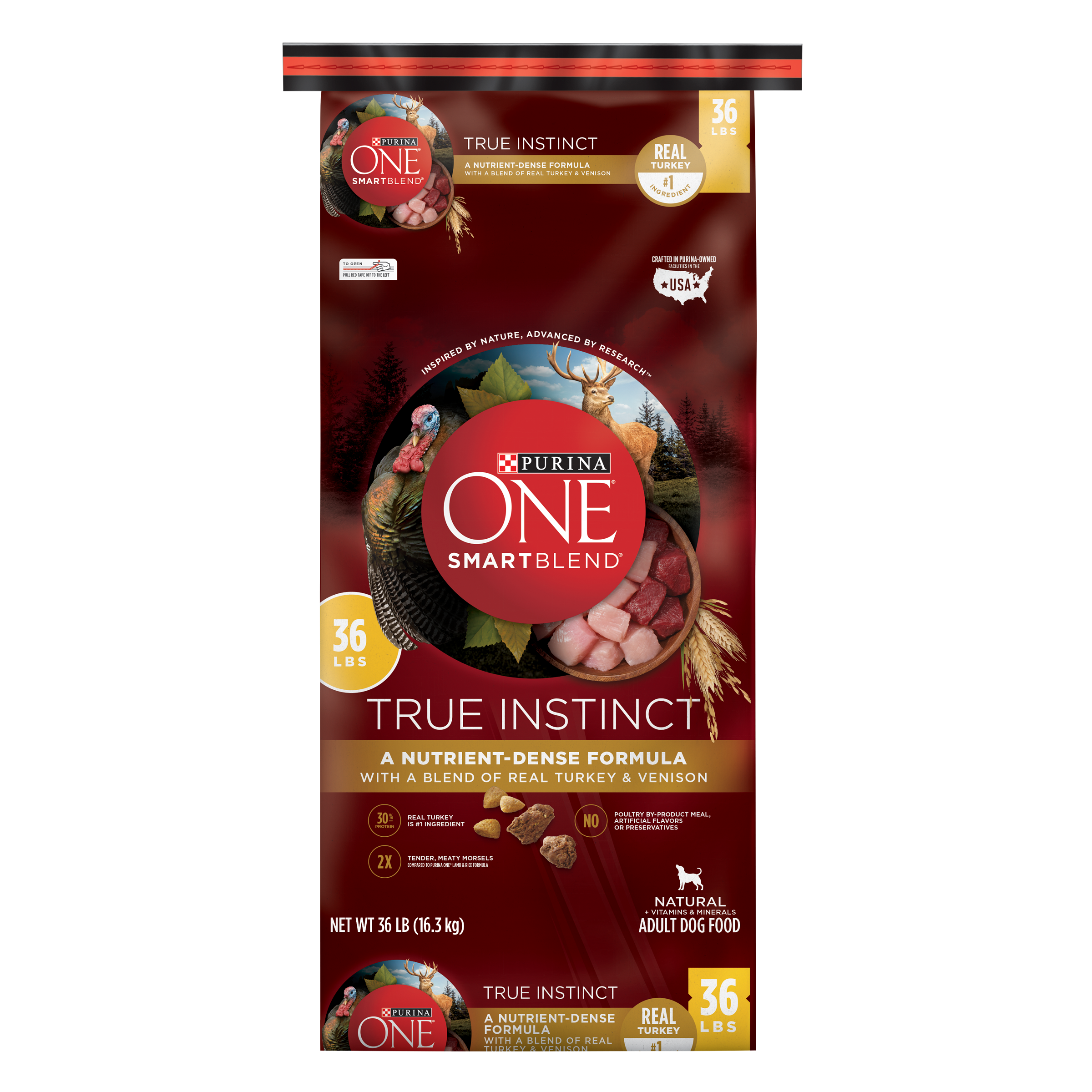 Purina ONE SmartBlend True Instinct Natural With Real Turkey & Venison Adult Dry Dog Food - 36 lb. Bag