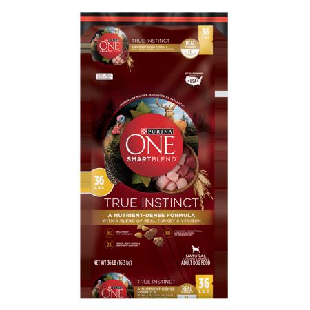 Purina ONE SmartBlend True Instinct Natural With Real Turkey & Venison Adult Dry Dog Food - 36 lb. (Venison Formula Dry Food)