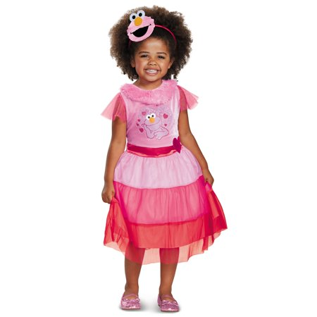 Elmo Costume Girl (Girls Pink Elmo Dress Classic)