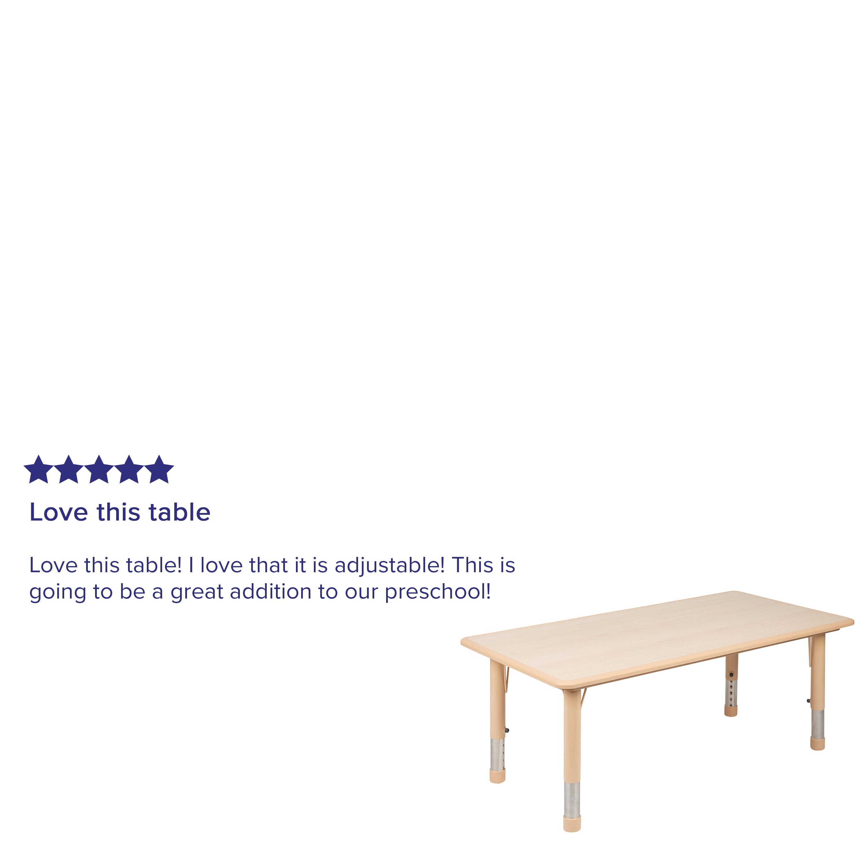 Flash Furniture 23 625 W X 47 25 L Height Adjustable Rectangular Plastic Activity Table In Multiple Colors With Grey Top Walmart Com Walmart Com