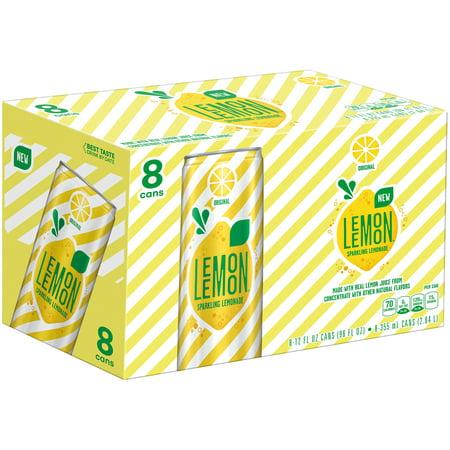 Lemon Lemon Sparkling Lemonade, 12 Fl Oz, 8 Count
