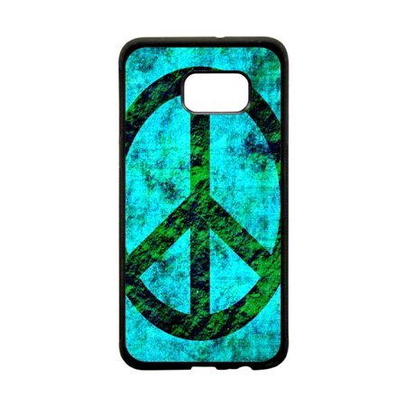 Grunge Peace Symbol Design Protective Black Plastic Phone Case Cover That  Is Compatible with the Samsung Galaxy s8 Plus / s8+ / s8P