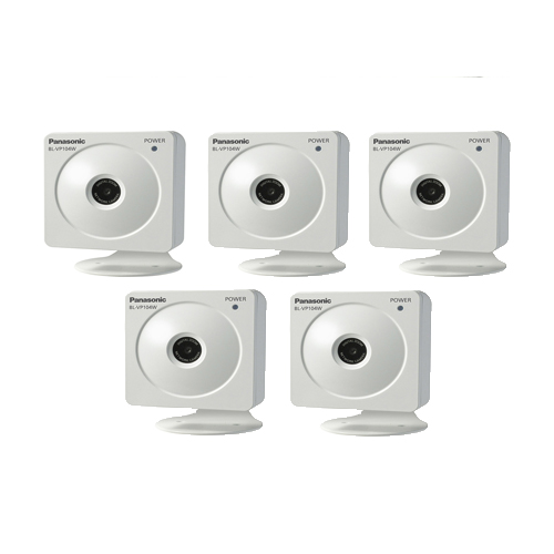 Panasonic BL-VP104WP (5 Pack) HD H.264 Wireless Indoor Security Camera