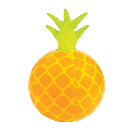 Fun Express - Inflatable Pineapple Beach Ball - Toys - Inflates - Beach Balls - 12 Pieces