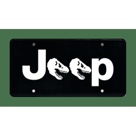 Jurassic Park | Jeff Goldblum Jeep Rubicon Dino Head | Metal Stamped Vanity License Plate