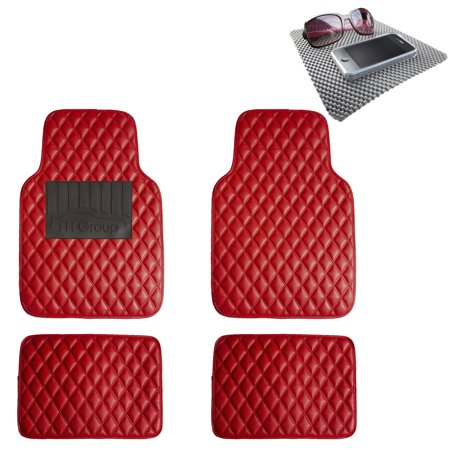 Fh Group Diamond Pattern Floor Mats Leather For Car Suv