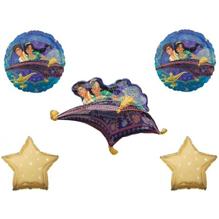 Aladdin 5 pc Birthday Party Balloons Decorations Supplies - Jasmine Birthday Party Supplies