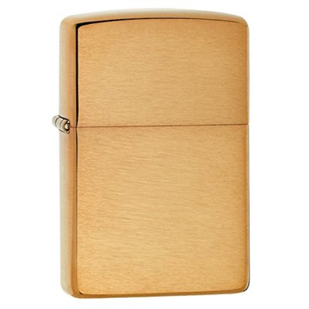 zippo lighter solid brass with brushed finish ()