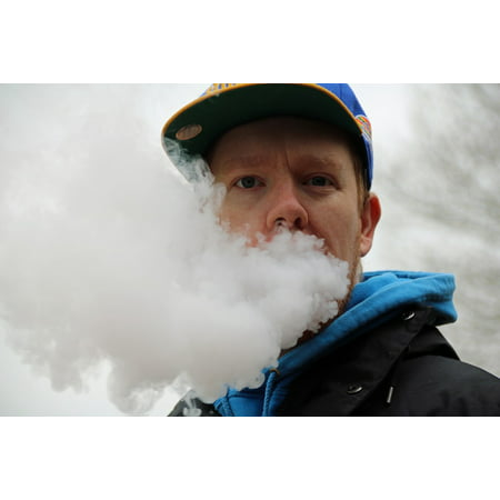 canvas print cloudchasing atomizer head head in clouds vaping stretched canvas 10 x