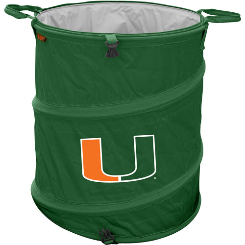 "Logo Chair NCAA Miami 16.5"" x 19"" Trash Can Cooler"