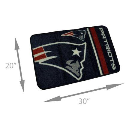 NFL New England Patriots Non-Skid Throw Rug 20 x 30 Rd Corners - image 3 de 4