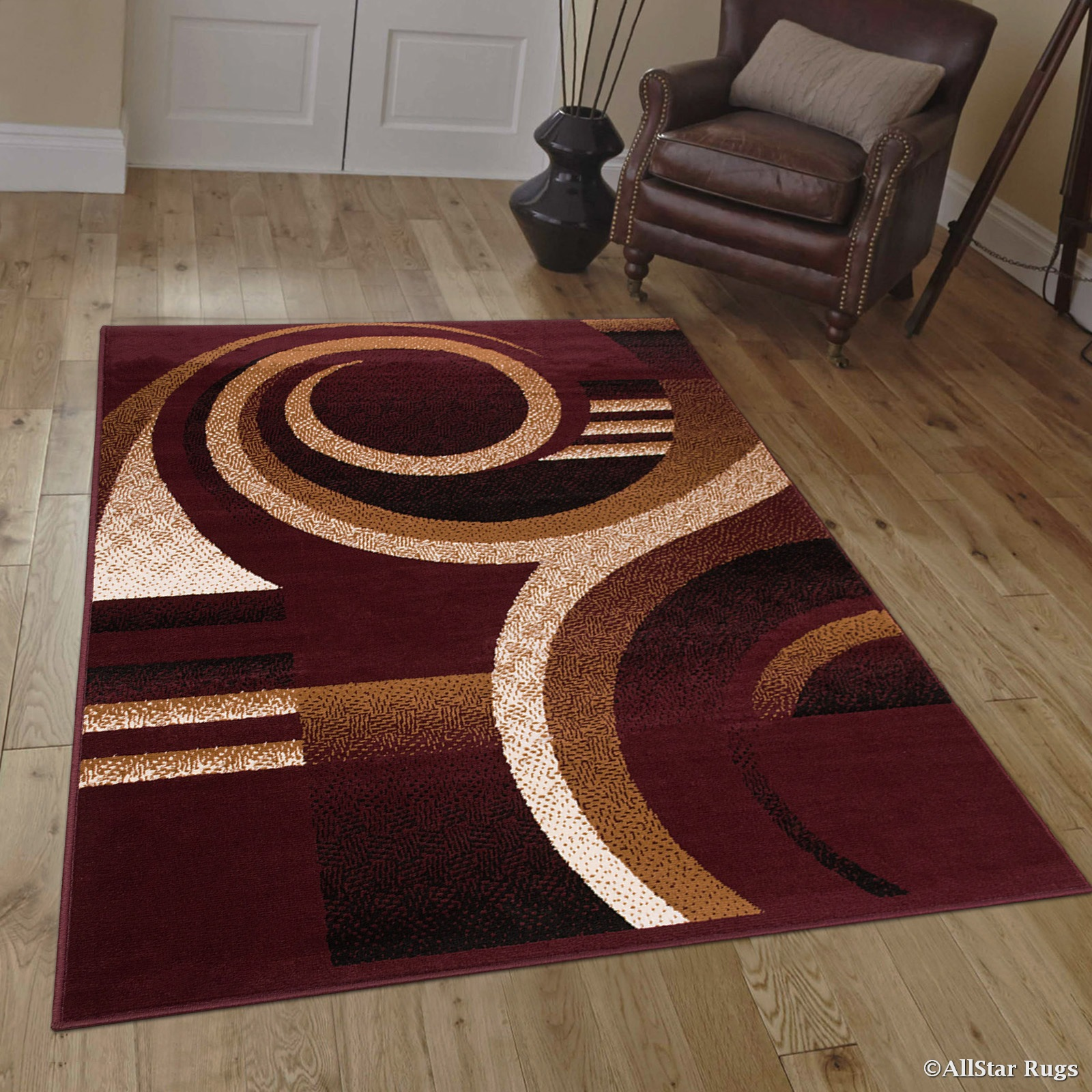 Allstar Burgundy Area Rug. Contemporary. Abstract. Traditional. Geometric.  Formal. Shapes