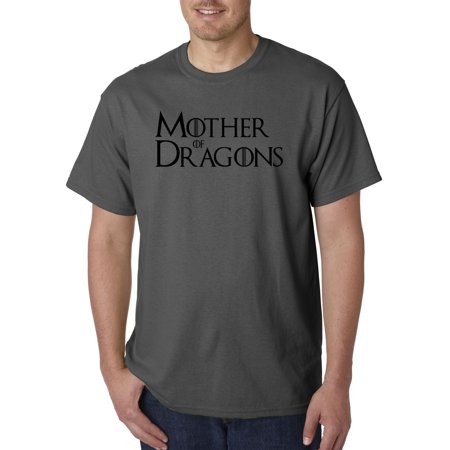 New Way 1210 - Unisex T-Shirt Mother Of Dragons Daenerys Targaryen Large Charcoal