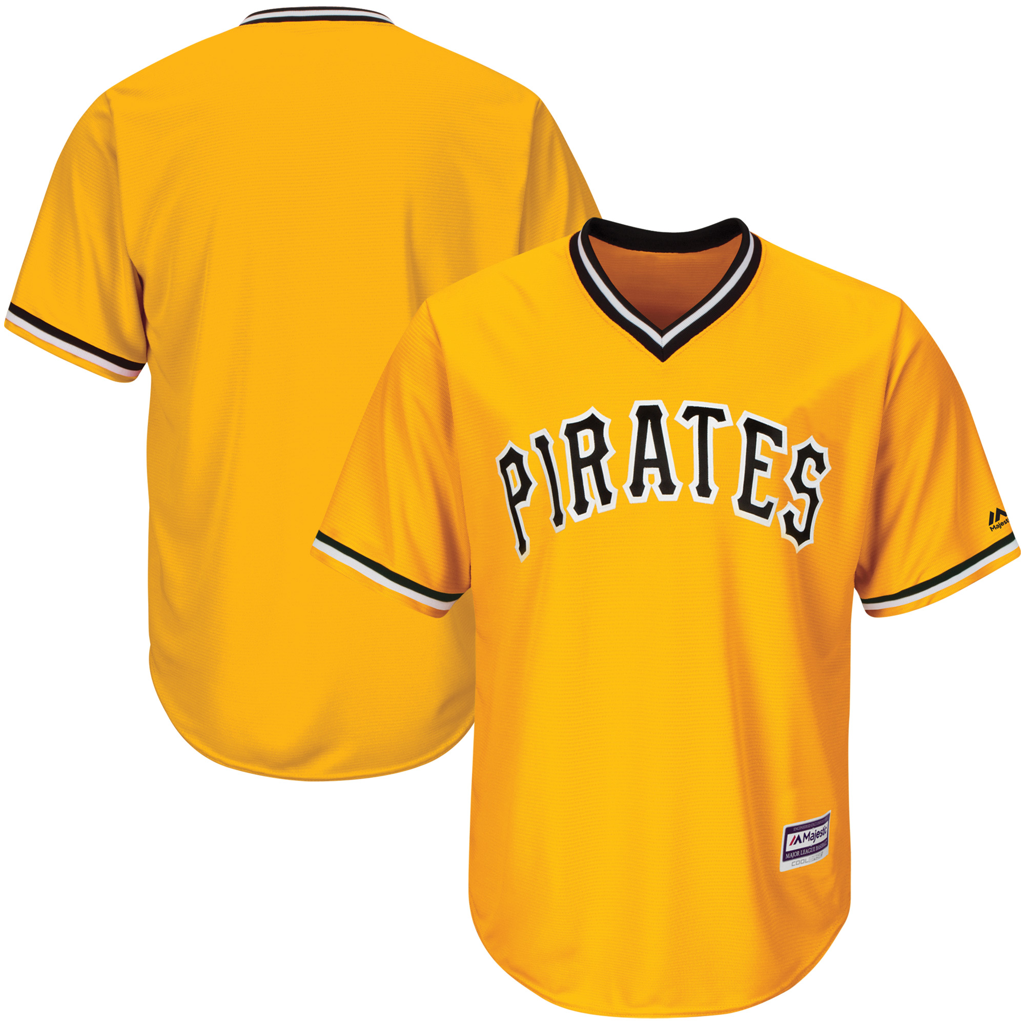 Pittsburgh Pirates Majestic Youth Official Cool Base Team Replica Jersey - Gold