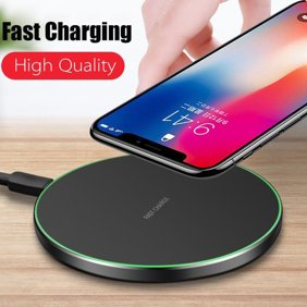 Wireless Charger With Ultra Slim UFO Shape Design Crystal Clear Fantasy Wireless Charging Pad Support Qi Enabled Smartphone(iphone X;White)