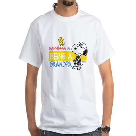 CafePress - Happiness Is Being A Grandpa White T-Shirt - Men's Classic T-Shirts