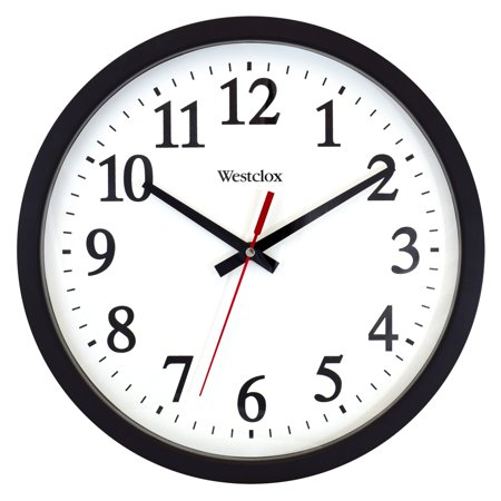 "32189A- Westclox 14"" Round Electric Powered Office Wall Clock"