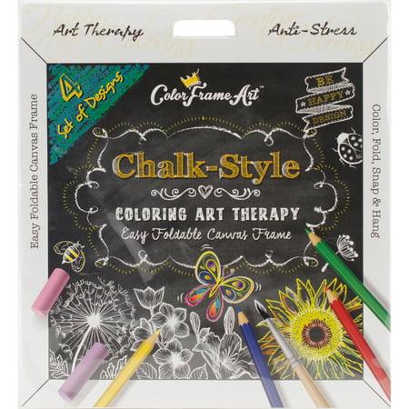 Adult Coloring Foldable Canvas Frame Assortment 4/Pkg-Black Be Happy - image 1 de 1
