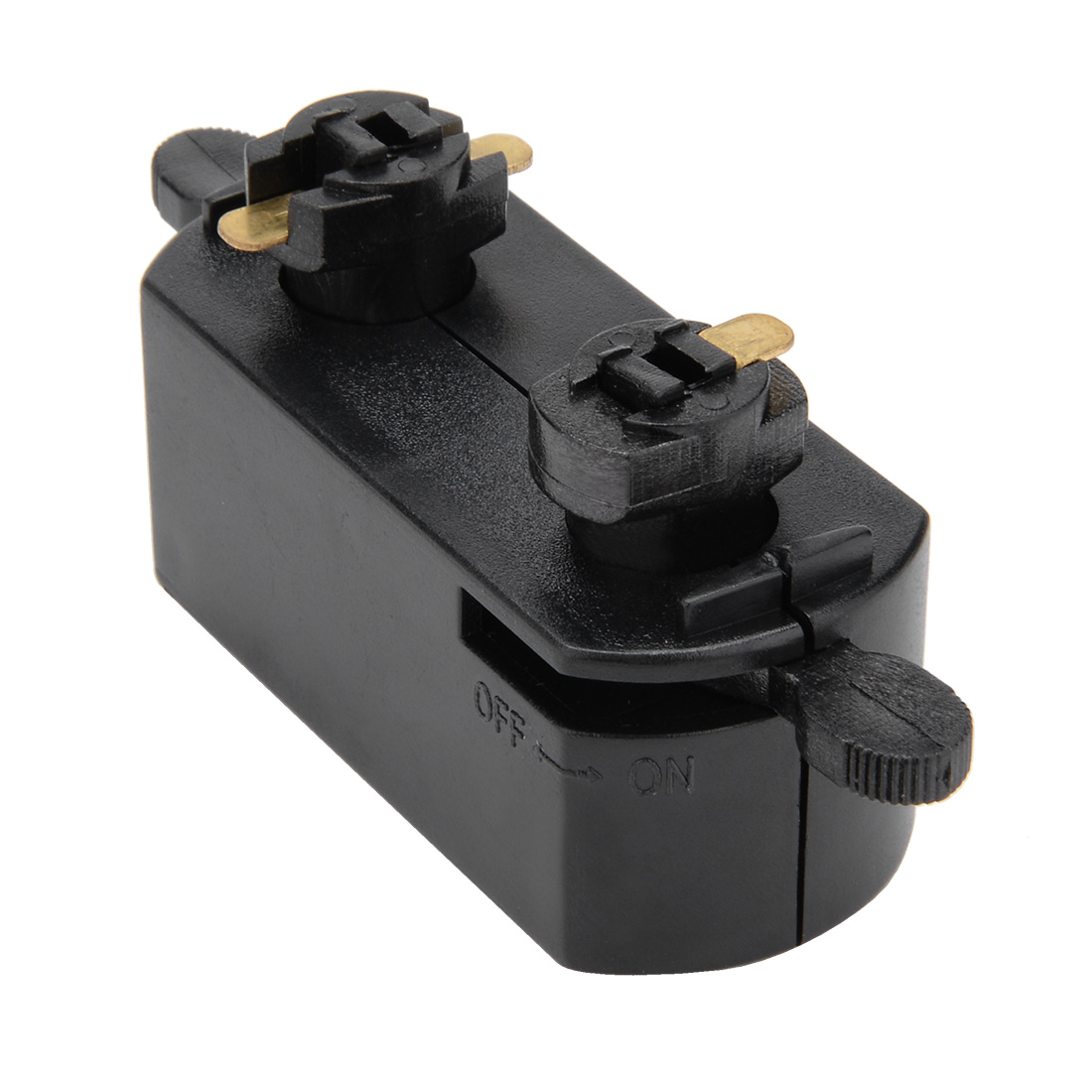 3-Wire Track Rail Joint Connector On/off Control Lighting Fittings GT-301 Black - image 2 of 2