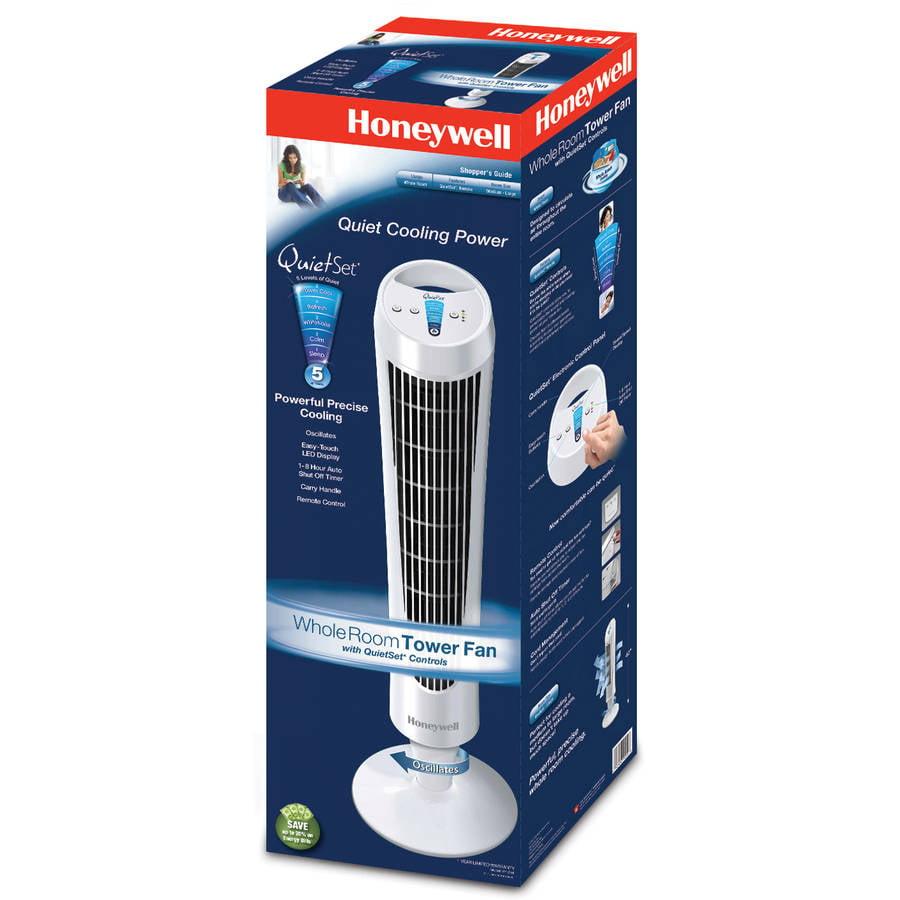 . Honeywell QuietSet Whole Room Tower Fan HY 254  White   Walmart com