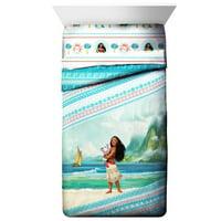 Disney Moana Kids Twin Size Comforter Blanket Reversible Wave Design