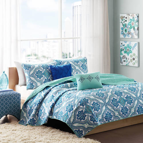 Home Essence Apartment Dakota Blue Coverlet Bedding Set