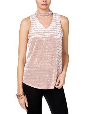 a7fc838cf2dc9 Product Image BCX Womens Juniors Gigi Velvet Striped Choker Top
