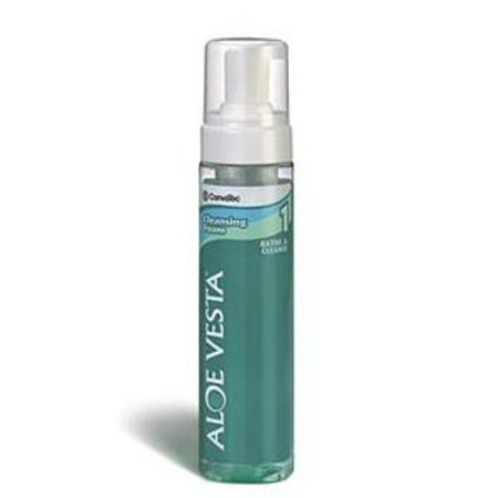 Aloe Vesta Foaming Rinse-Free Body Wash  8 oz. Pump Bottle, Clean Scent, Pack of 6