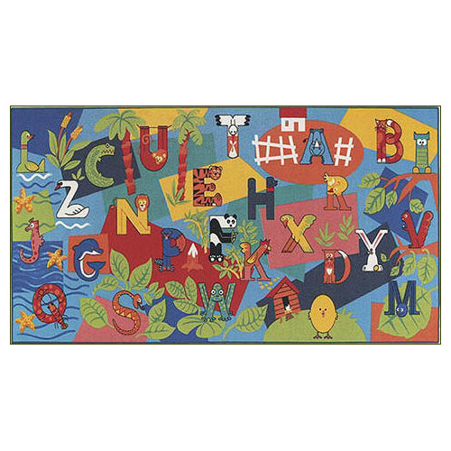 Custom Printed Rugs Children's Play Alpha Area Rug