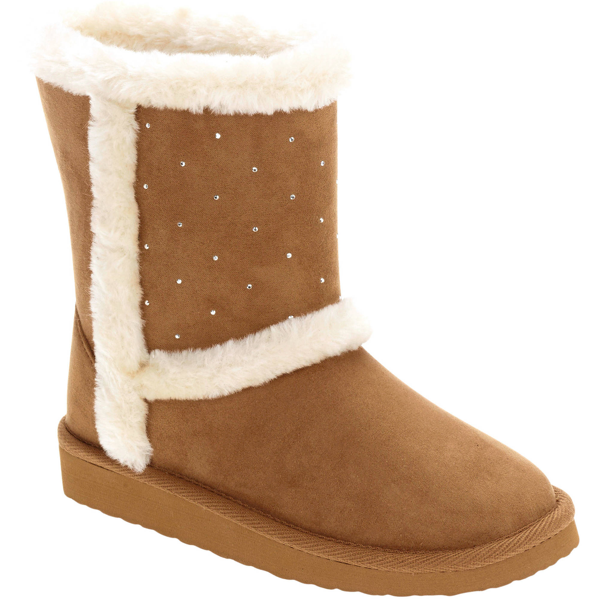 Faded Glory Girls' Embellished Shearling Boot