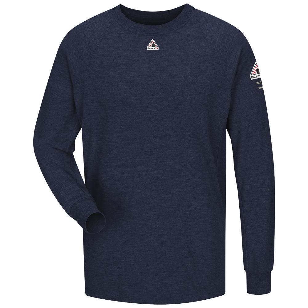 Bulwark FR Navy Long Sleeve Performance T-Shirt