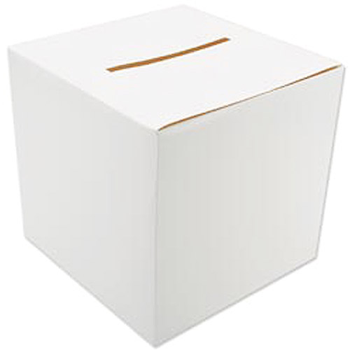 Creative Expressions 12'' x 12'' Foldable Card Box, White