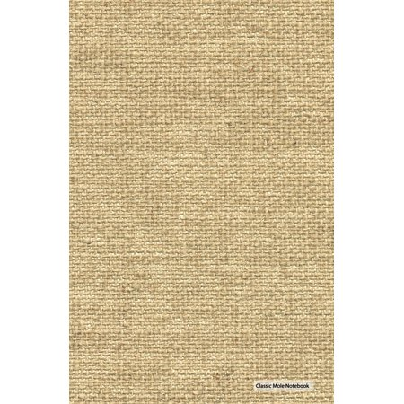 Classic Mole Notebook - Burlap Cover: 5.25