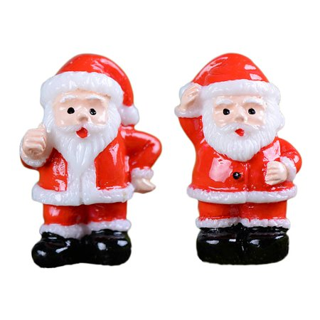 2PCS Garden Miniature Resin Red Clothes Snowman Pots Craft Micro Landscape Mini DIY Decoration