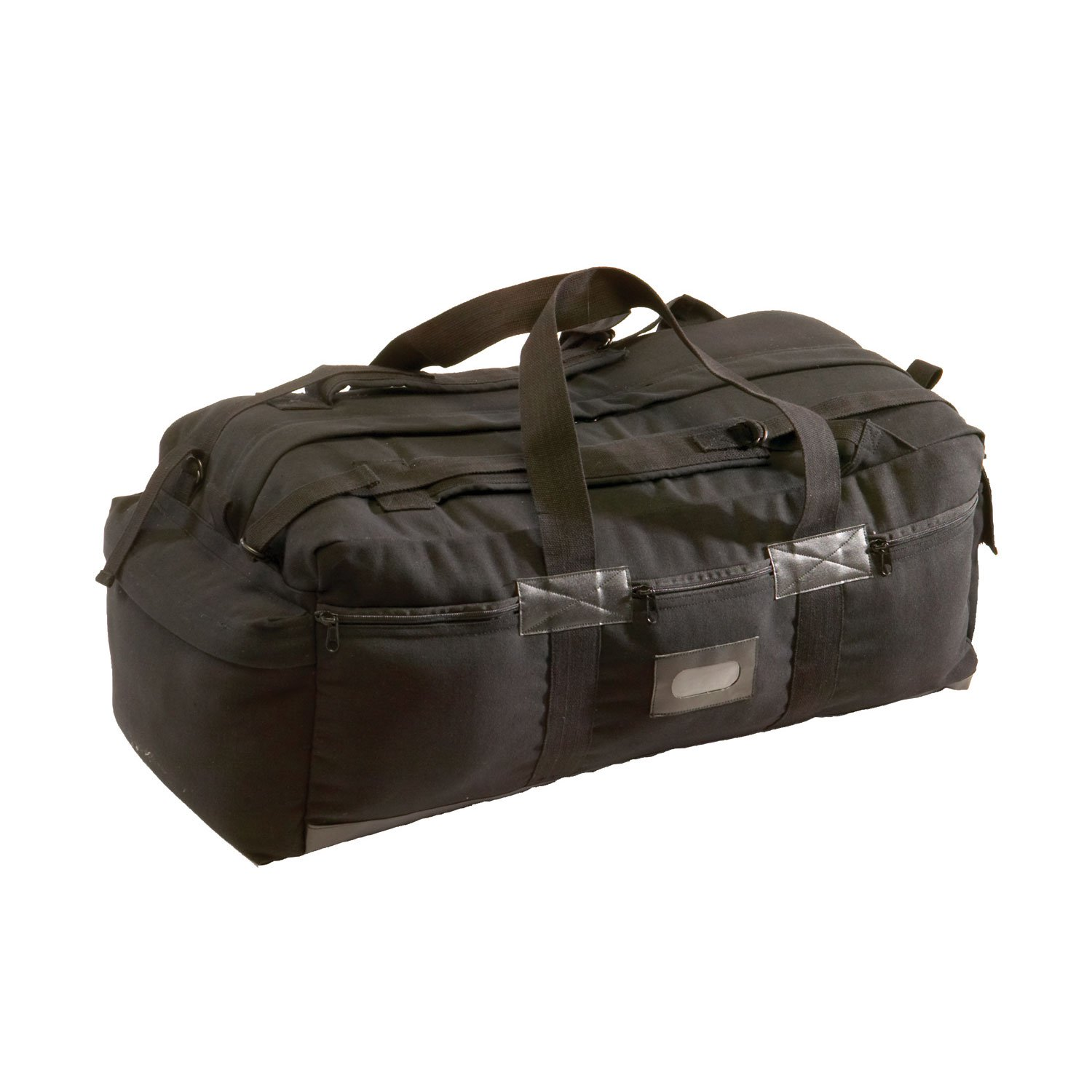 Texsport Zippered Durable PVC Material Canvas Outdoor Sports Tactical Bag, Black