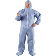 Kimberly-Clark Professional Kleenguard A65 Hood & Boot Flame-Resistant Coveralls, Blue, 4XL