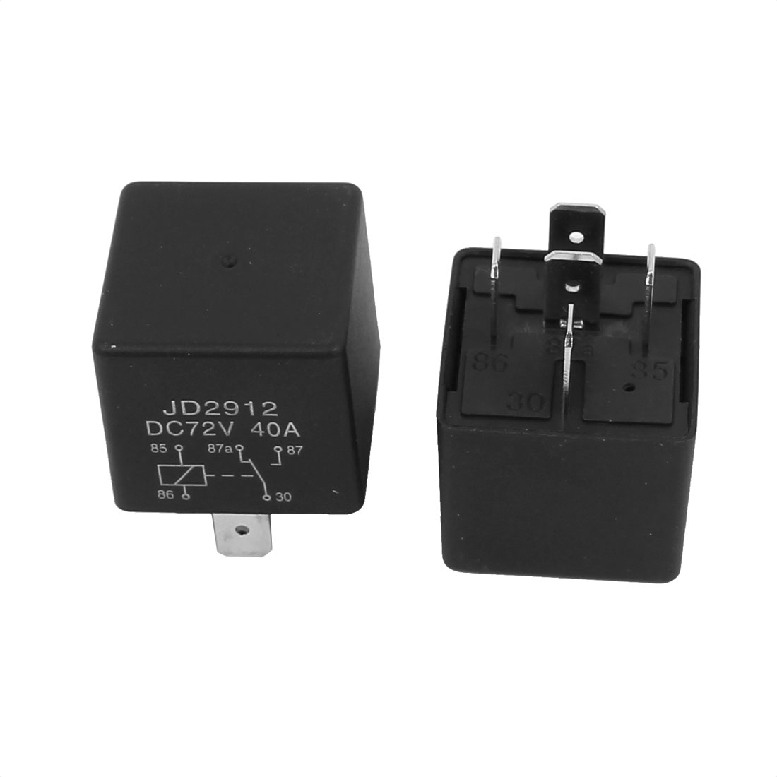 JD2912 DC 72V 40A 5 Pins SPST Vehicle Car Security Power Relay 10pcs - image 2 of 3