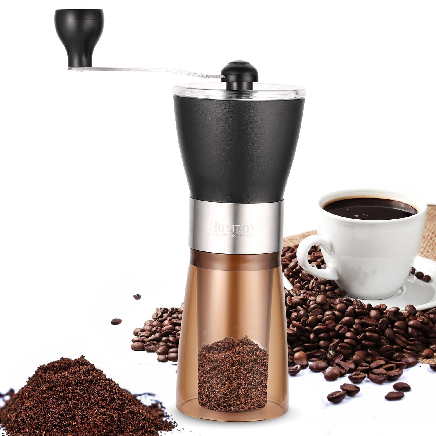 Big Sales!Travel Portable Stainless Steel Manual Coffee Grinder LEOZEE by