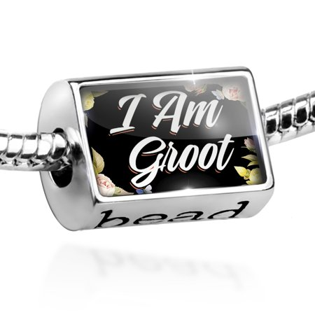 Bead Floral Border I Am Groot Charm Fits All European Bracelets - Floral Beads