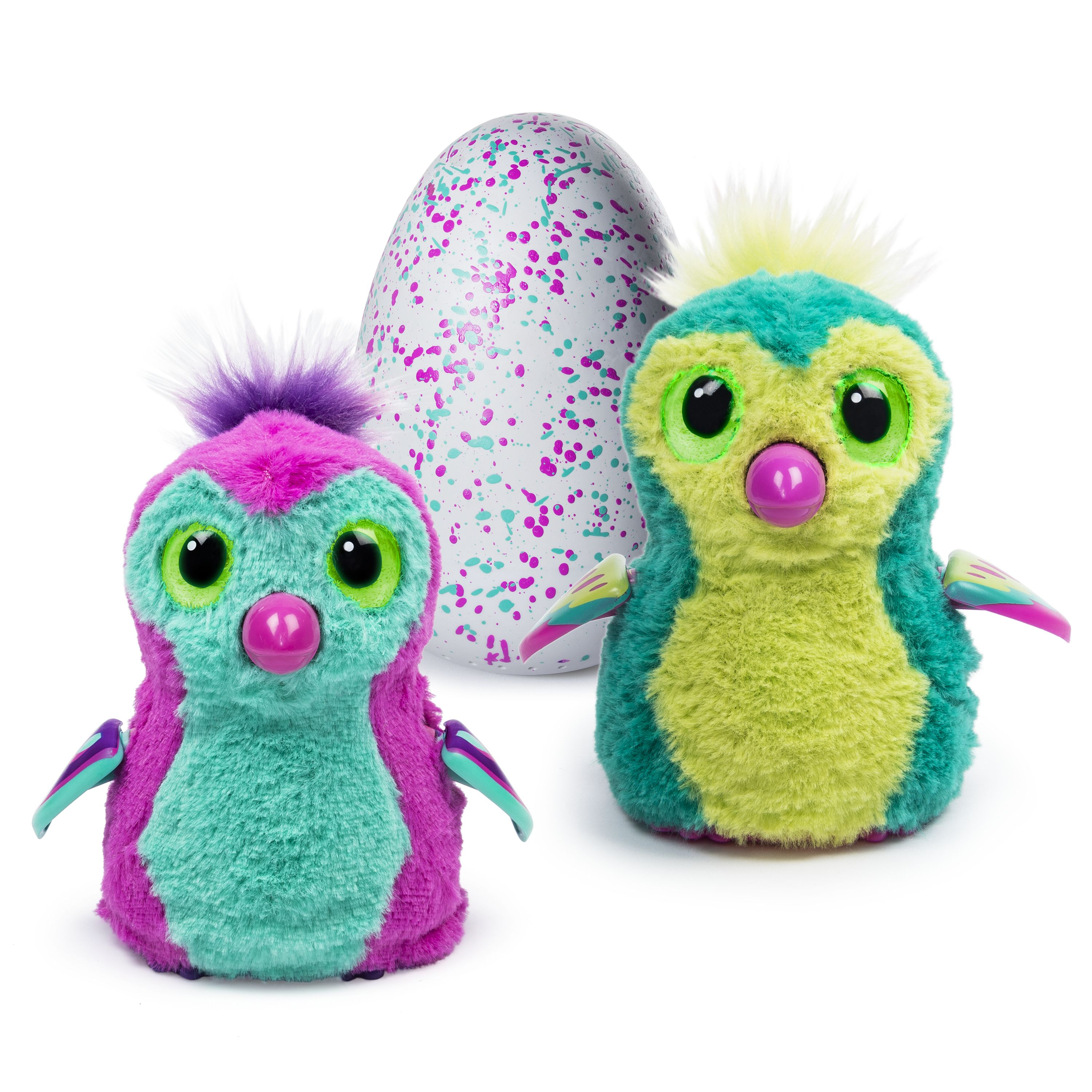 Hatchimals, Hatching Egg, Interactive Creature, Penguala, Pink/Teal Egg by Spin Master