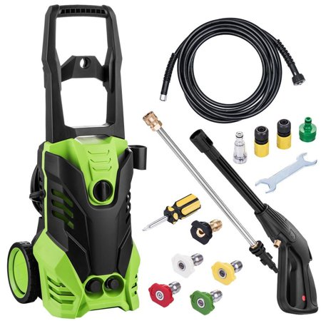 Hifashion 2200 PSI Electric Pressure Washer 1800W Rolling Wheels High  Pressure Professional Washer Cleaner Machine with 5 Quick-Connect Spray Tips