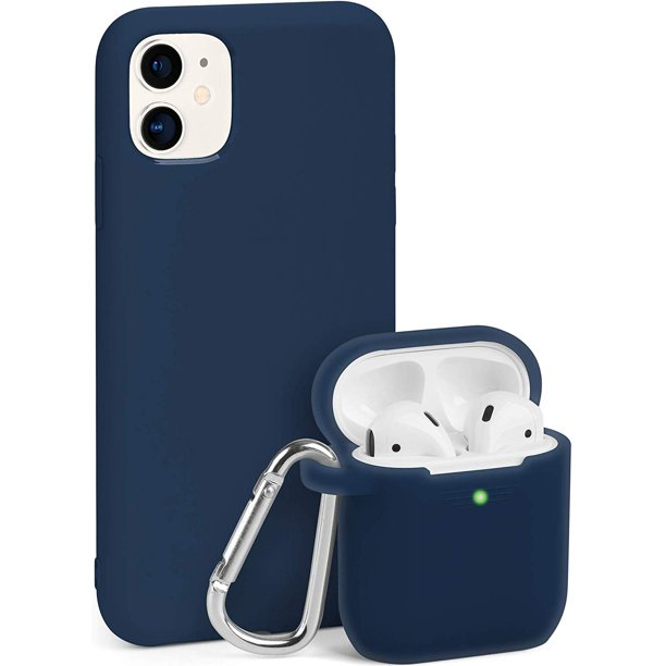 Iphone 11 Case And Airpods Case Same Color Bundle Set Silicone