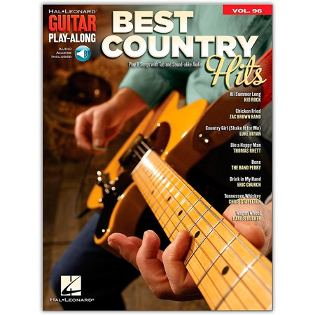 Hal Leonard Best Country Hits Guitar Play-Along Volume 96 Book/Audio