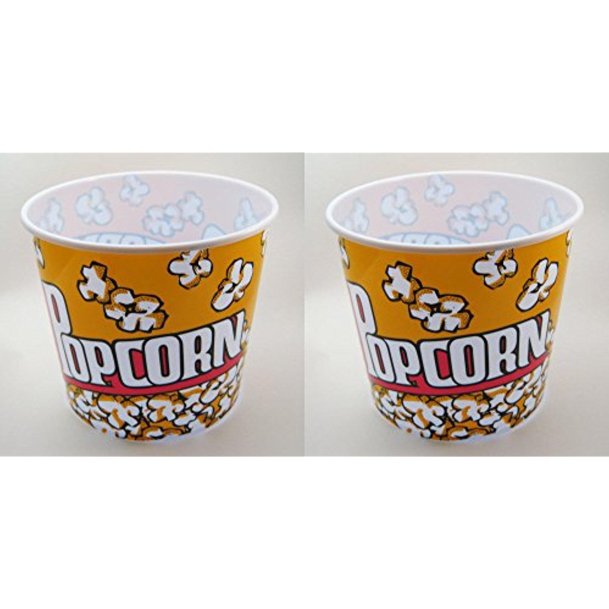 "DDI Jumbo Popcorn Tub/Bowl Made From Durable Plastic 9"" x..."