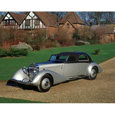1935 Hispano Suiza K6 Fernandez   Darrin Coupe Chauffeur Limousine Built For Anthony Gustav Of The Rothschild Banking House Country Of Origin Spain Rolled Canvas Art   Panoramic Images  11 X 14
