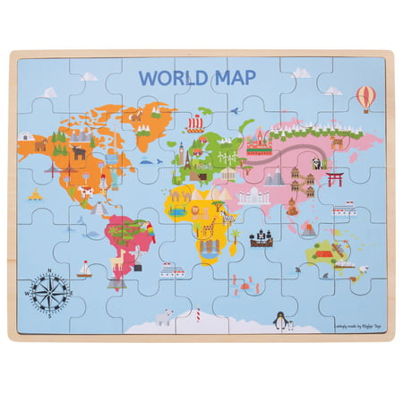 Big Jigs - World Map Puzzle - Map Puzzle