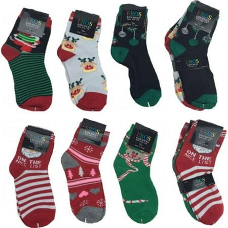 DDI 2123613 2-4 Kids Christmas Crew Socks, Case of 60