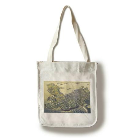 Newport  Rhode Island   Panoramic Map   2   100  Cotton Tote Bag   Reusable