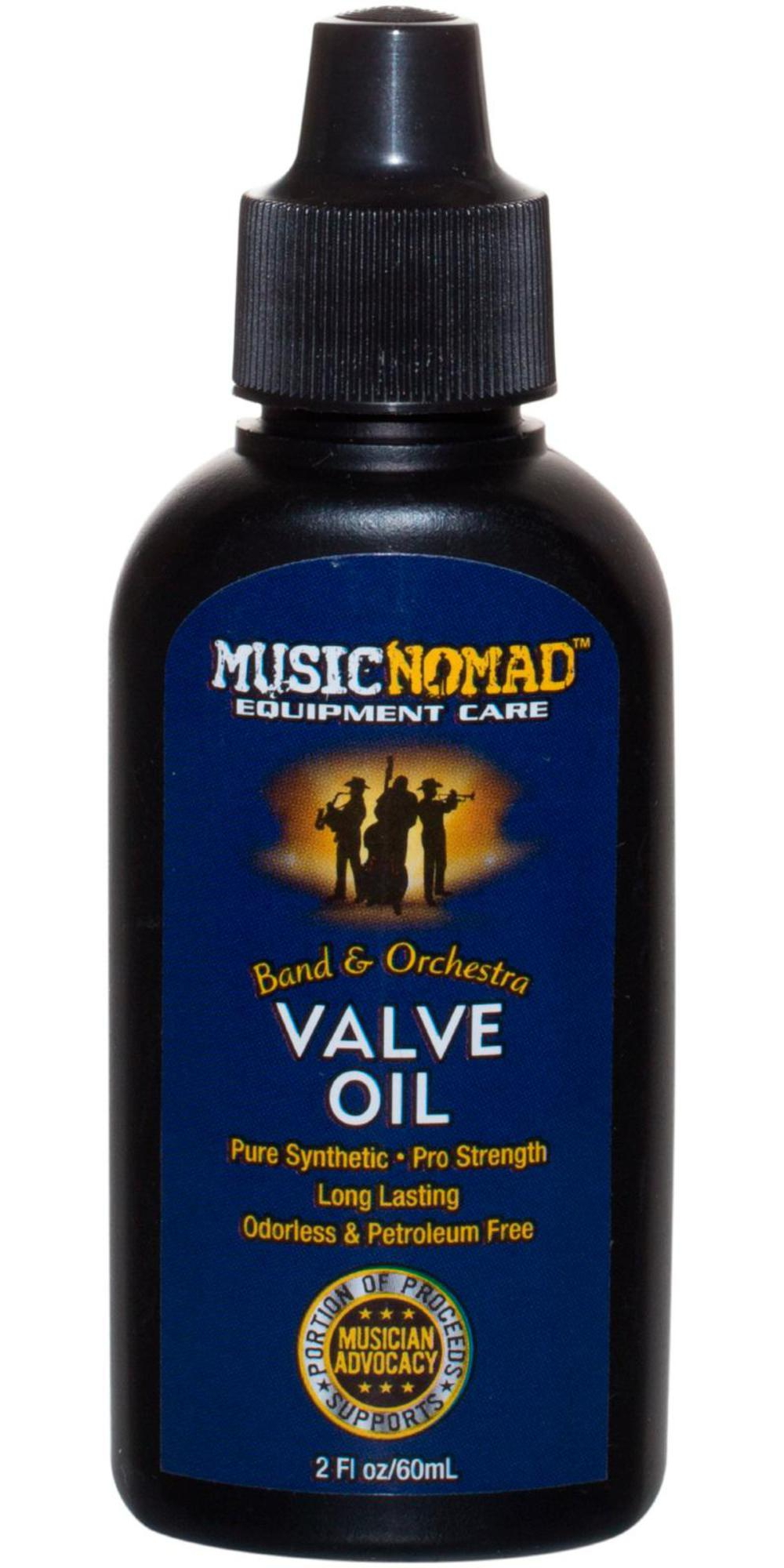 Music Nomad Pro Strength Pure Synthetic Valve Oil 2oz. Bottle by Music Nomad